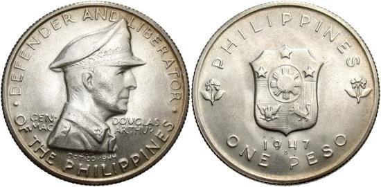 Philippines. 1947 S. 1 Peso. BU.
