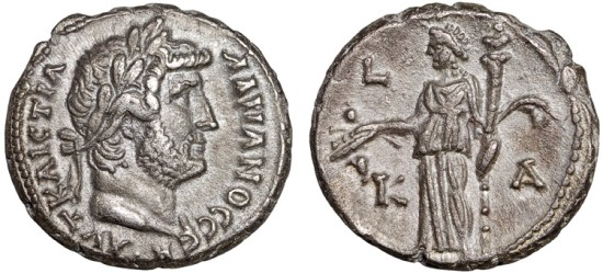 Hadrian billon tetradrachm, Alexandria, Egypt – Demeter