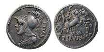 Ancient Coins - ROMAN REPUBLIC. P. SERVILIUS M. F. RULLUS. Ca. 100 BC. AR Denarius.