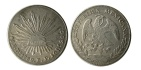 Ancient Coins - MEXICO, Republic (Second). 1867-present. AR 8 Reales. Dorango Mint assayer J. Dated 1882.