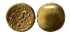 Ancient Coins - CELTIC, Gaul. Ambiana. 60-55 BC. Gold stater.