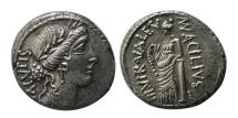 Ancient Coins - ROMAN REPUBLIC. Mn. Acilius Glabrio. 49 BC. AR Denarius.