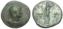 Ancient Coins - HADRIAN, 117-138 AD. AE SESTERTIUS, VIRTUS REVERSE