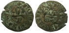 Ancient Coins - CRUSADER STATES.GREECE.Principality of ACHAIA.Jean de Anjou-Gravina AD 1322-1333.Billon Denier, Type A.Mint of CLARENTIA.