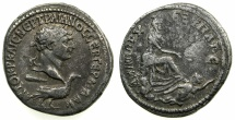 Ancient Coins - PHOENICIA.TYRE.Trajan AD 98-117.AR.Tetradrachm, struck AD 110/11.~#~.Tyche, swimmer below.