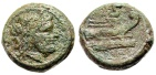 """Ancient Coins - Roman Republic Anonymous AE Semis """"Saturn & Prow of Galley"""" Italian Mint"""