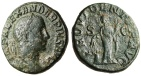 "Ancient Coins - Severus Alexander AE Sestertius ""PROVIDENTIA AVG Annona"" Rome RIC 642 gF"