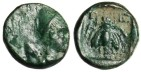 "Ancient Coins - Lycia Telmessos AE 10 ""Hermes & Bee"" EF Very Rare SNG Cop 135"