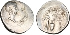 "Ancient Coins - Octavian Silver Denarius ""Implements of the Augurate & Pontificate"" VF Rare"