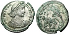 """Ancient Coins - Constantius II Silvered Centenionalis """"FEL TEMP REPARATIO"""" Constantinople VF"""