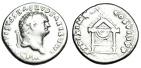 """Ancient Coins - Titus Silver Denarius """"Draped Throne"""" Rome 80 AD RIC 24a"""