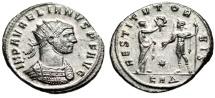 "Ancient Coins - Aurelian Silvered Antoninianus ""RESTITVT ORBIS"" Serdica RIC 297 About Mint State"
