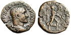 """Ancient Coins - Maximinus I Thrax AE Sestertius """"VICTORIA AVG Victory Advancing"""" Rome 236AD nVF"""