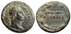 """Ancient Coins - Trajan AE26 """"DHMARC EX UPAT B In Wreath"""" Cappadocia, Caesarea nEF"""