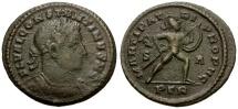 Ancient Coins - Scarce Constantine I as Caesar half follis.