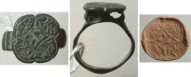 Ancient Coins - Heavy white metal Roman ring