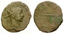 Ancient Coins - Barbarous radiate CONSECRATIO reverse