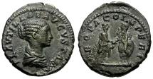 Ancient Coins - nEF Plautilla denarius. Original darkly toned surfaces. Recent find.