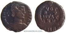 Ancient Coins - THEODOSIUS I. (AD 378-395) AE3, 1.41g.  Rome. Scarce VOT XV