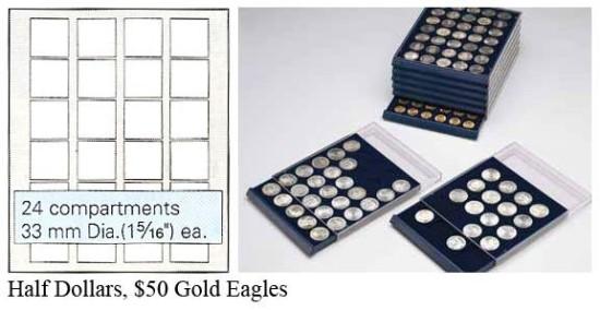 Nova Coin Tray - Stackable - 24 compartments