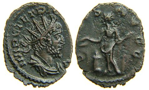 TETRICUS I, AD 271-274, AE Antoninianus, SALVS AVGG, Cologne. Ex Beachy Head Hoard.