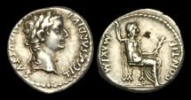 Ancient Coins - TI-PDWP - TIBERIUS- AR Denarius, 'Tribute Penny' ca.15-18AD.