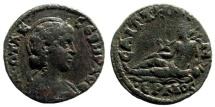 Ancient Coins - Lydia, Saitta. Otacilia Svera, wife of Philip I. 244-249 AD. AE 20mm (5.17 gm). BMC 66. SNG Copenhagen 413. SNG von Aulock 3106