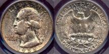Us Coins - 1958 25c PCGS MS66  MULTI COLORS