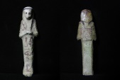 Ancient Coins - ANCIENT EGYPT. 21ST DYNASTY FAIENCE USHABTI WITH HIEROGLEPHS. 1077 - 943 B.C