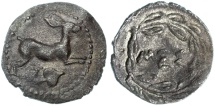 Ancient Coins - Sicily, Messana AR Litra, About Extremely Fine, 445 - 439 B.C.E.