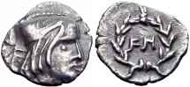Ancient Coins -  NABATAEA. Syllaeus. 9 BC. AR 1/4 Drachm, Stunning and bold for the type !!!!!!