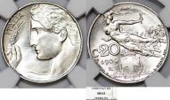 World Coins - Italy. Vittorio Emanuele III. NI 20 Centesimi 1909R. NGC MS63