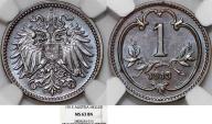 World Coins - Austria. Empire. Franz Joseph I. BRZ 1 Heller 1913. NGC MS63