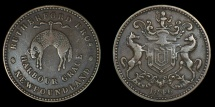 World Coins - CANADA – NEWFOUNDLAND – 1846 Rutherford Brothers Halfpenny Token, Harbour Grace