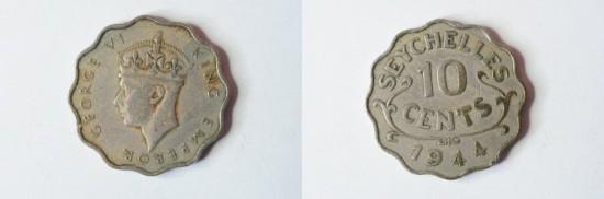 Seychelles 10 Cents 1944