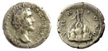 Ancient Coins - Antoninus Pius. CAPPADOCIA, Caesarea. AR Drachm. Mount Argaeus
