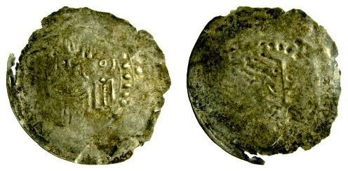 World Coins - Germany, Worms, Bishop Konrad II AR Halbrakteaten, 1172 - 1192 AD