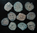 Ancient Coins - LOT OF 10 BYZANTINE BRONZE COINS