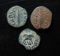 Ancient Coins - Judaea, Lot of 3 Roman Procurators prutah, Porcius Festus (2) and Antonius Felix