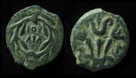 Ancient Coins - JUDAEA,  Valerius Gratus 15-26 AD. Prefect / Procurator. Bold. Hendin 1335. Scarce Type