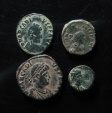 Ancient Coins - Lot of 4 bronze late roman  coins