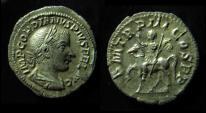 Ancient Coins - GORDIAN III, 238-244 AD. Silver Denarius. (2.9g) Emperor on Horseback