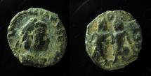 Ancient Coins - Valentinian III, AE4, Rome. Very Rare!