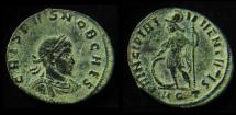Ancient Coins - CRISPUS AE3. 316-317 AD. Aquileia mint, Beautiful desert patina!