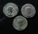 Ancient Coins - Lot of 3 Probus Silvered antoninianus, Ex-fine ,  full silvering and centering!!!