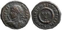 Ancient Coins - Crispus votive from Ticinum...rare bust
