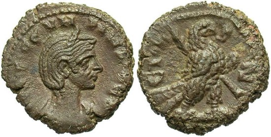 Severina, AE Tetradrachm, 275 (Year 7), Egypt-Alexandria - Emmett 3965; Milne 4480; Curtis --; BMC 2383 (Ex Keith Emmett Collection)