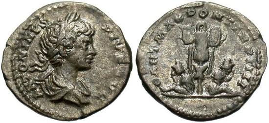 Caracalla, AR Denarius, 201, Rome - RIC IV, Part I, 54b