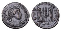 Ancient Coins - Constantius II. 337-361 AD. AE Nummus GLORIA EXERCITVS