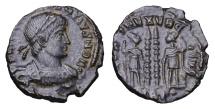 Ancient Coins - CONSTANTIUS II. 337-361 AD. BRONZE. GLORIA EXERCITVS